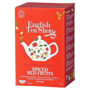 有機JAS認定 スパイスレッドフルーツ オーガニックティー  20袋入り(ティーバッグ) ペーパーボックス ハーブティー English Tea Shop フェアトレード イングリッシュティーショップ