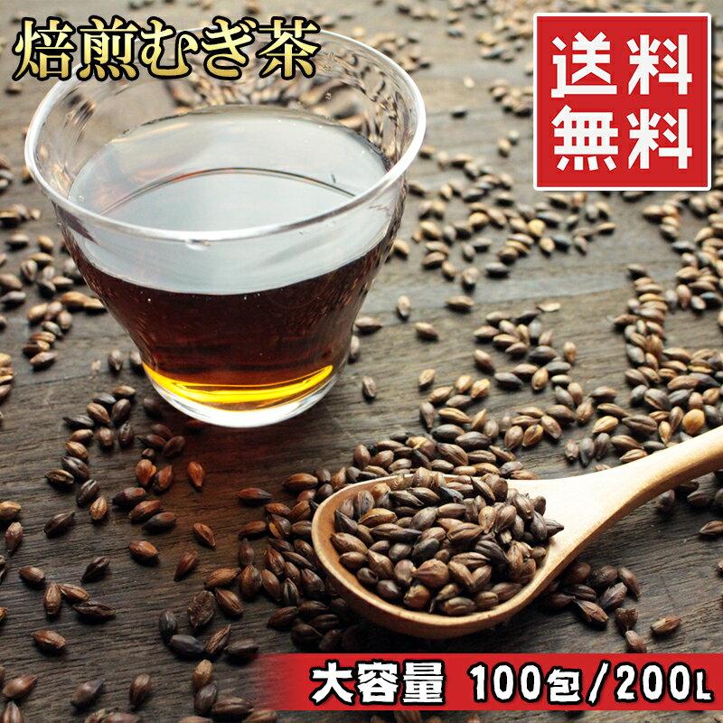 (焙煎健康麦茶ティーパック 10g 100包入)国産 九州産むぎ茶 [キャンペーン期間限定] 衝撃価格 200リットル分の大容量 送料無料