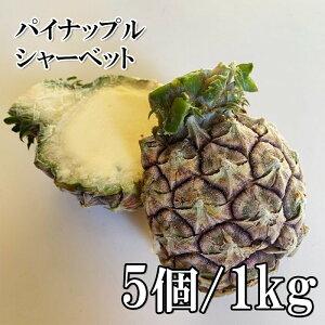 (全品5%還元) 国産 皮付きパインシャーベット ハーフカット 5個 1kg 冷凍