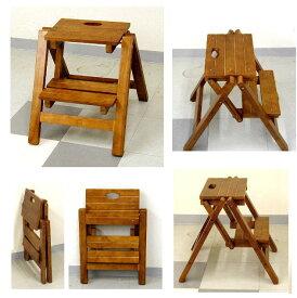 木製の踏み台 折りたたみ式 2段 5.0kg[オリタタミシキ ステップチェア 2ダン OF-454]