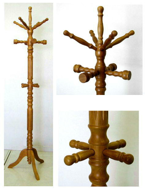 木製 ポールハンガー 太さ70ミリ 茶色 5.4kg[ポールハンガー DX PH-70]