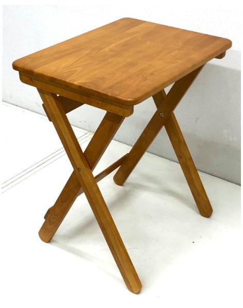 折りたたみテーブル 幅60 奥行45木目 8.2kg[オリタタミテーブル FT-6045 ブラウン]