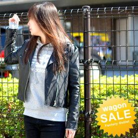 ライダースジャケット レディース フェイクレザー レザージャケット 革ジャン 本革風 【送料無料】ショートブルゾン M/Lサイズ 大きいサイズ有り
