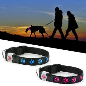 『ナイトスカウト NIGHT SCOUT LED Dog Collar』【ドッグカラー 首輪 犬 ドッグ LED ライト USBライト 散歩】【メール便対応】
