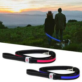 『ナイトスカウト NIGHT SCOUT LED Dog Leash』【ドッグリーシュ リード 鎖 LED ライト USBライト 散歩】