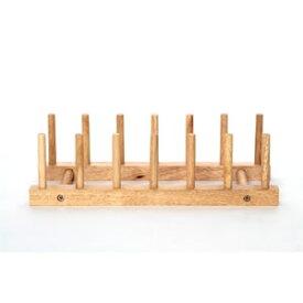 『ボヌールシリーズ木製ディッシュスタンド94385』(Bonheur キッチン収納 ディッシュラック シンプル シンク下収納 ホルダーお皿 食器棚 食器収納 縦置き )