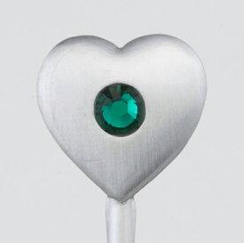 【SALUS セイラス】『ハートストーン コーヒースプーン 緑』【ティータイムグッズ】