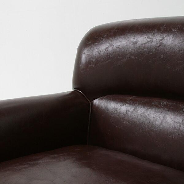 チョコレートブラウンコンパクトトリプルソファソファソファー三人掛け3人掛け3シータートリプルアンティークヴィンテージビンテージレトロレザー合成皮革本革調ボタン茶色イギリスVN3P38K
