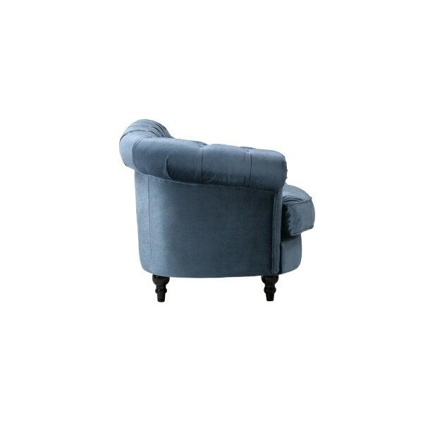 ブルーベルベットフレンチスタイル3シーターソファMouSofa(モーソファ)ソファチェスターフィールドソファー三人掛け3人掛け3シータートリプルアンティークヴィンテージビンテージレトロフレンチファブリック布地モケットボタンブルー青NM3F92K