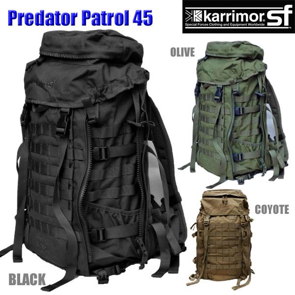 【正規輸入代理店直売】karrimor SF Predator Patrol 45 M012 ・ カリマー SF プレデター パトロール 45【送料無料】ミリタリー バックパック リュックサック