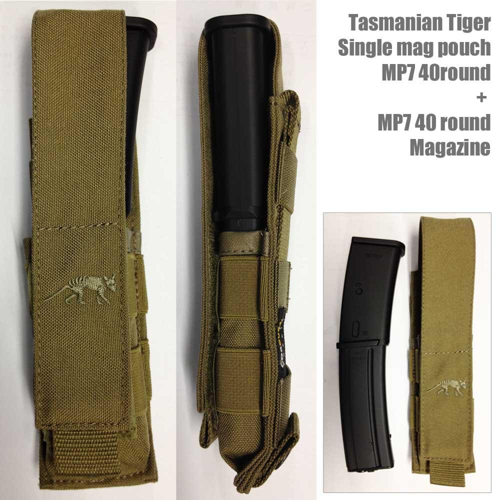 【タスマニアンタイガー】シングル マグポーチ MP7 40round 7768・Tasmanian Tiger【正規輸入代理店直売】