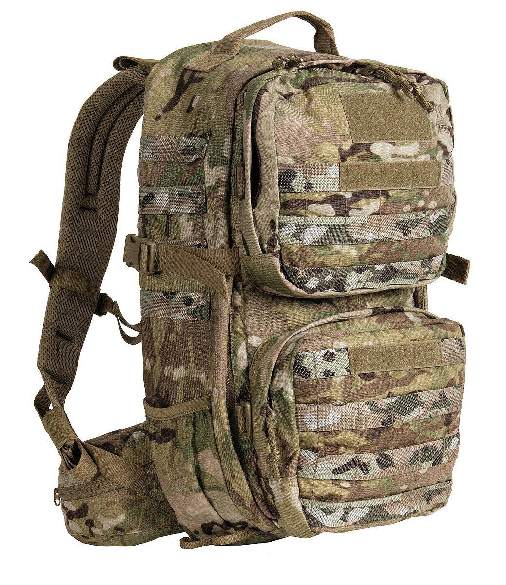 タスマニアンタイガー コンバットパック MK2 マルチカム(メイン22L+2つのポーチ8L=計30L)・Tasmanian Tiger Combat Pack MK2 【正規輸入代理店直売】【送料無料】ミリタリー バックパック リュックサック