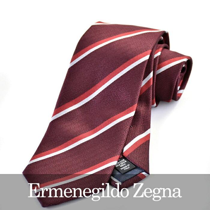 エルメネジルドゼニア ERMENEGILDO ZEGNA ネクタイ Z8D94 1L8 B RD 【送料無料】