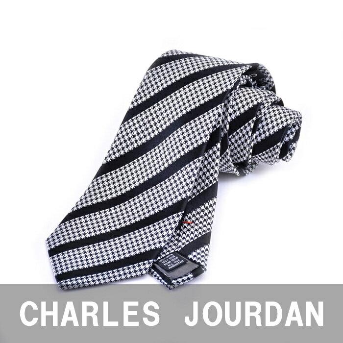 CHARLES JOURDAN シャルル ジョルダン ネクタイ ブラック 2R 42105 1 【送料無料】