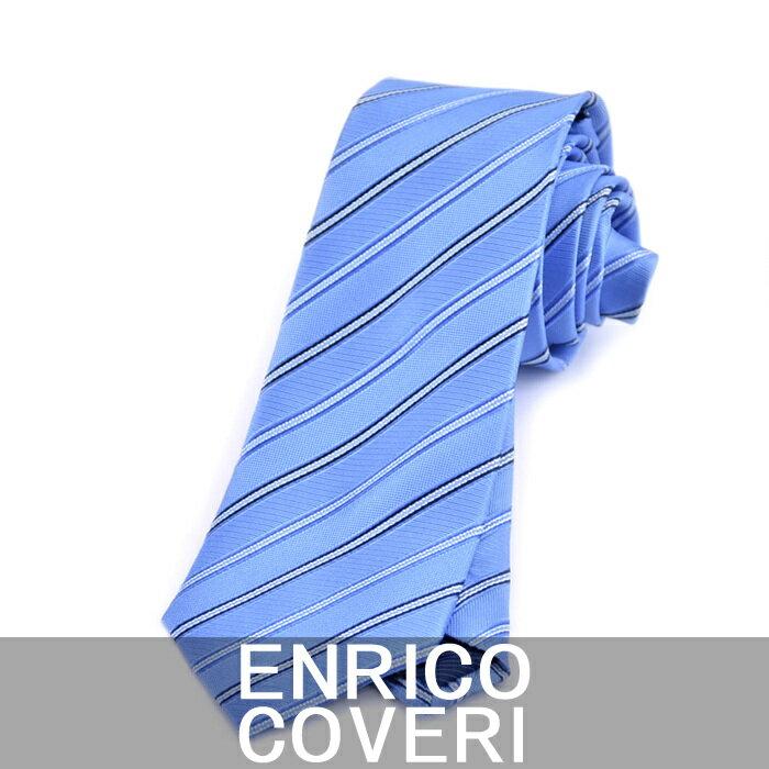エンリコ コベリー ネクタイ ENRICO COVERI ブルー 2R42073 6【送料無料】 父の日 プレゼント