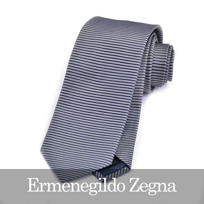 エルメネジルドゼニア ネクタイ ERMENEGILDO ZEGNA ブルー Z9D84 1L8 A 【メンズ】