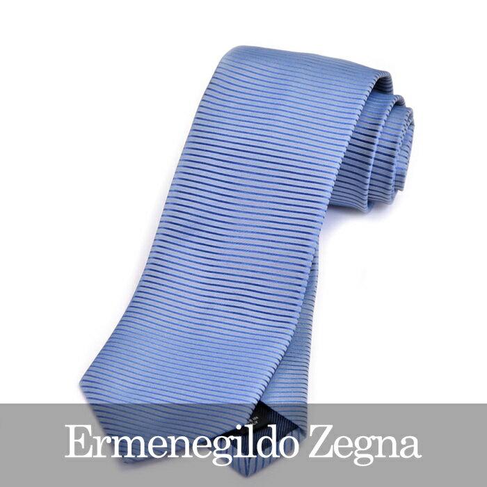 ERMENEGILDO ZEGNA エルメネジルドゼニア ネクタイ ブルー Z9D84 1L8 C 【送料無料】