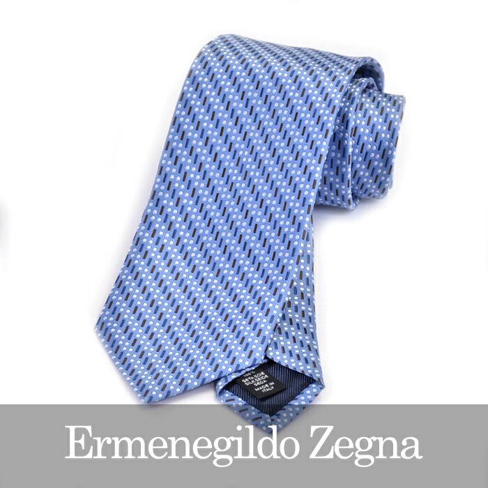 ERMENEGILDO ZEGNA エルメネジルドゼニア ネクタイ ブルー Z9D86 1L8 B【送料無料】