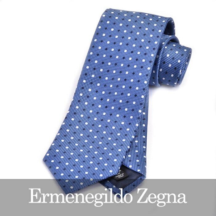 ERMENEGILDO ZEGNA エルメネジルドゼニア ネクタイ ブルー Z9D02 1L8 B 【送料無料】