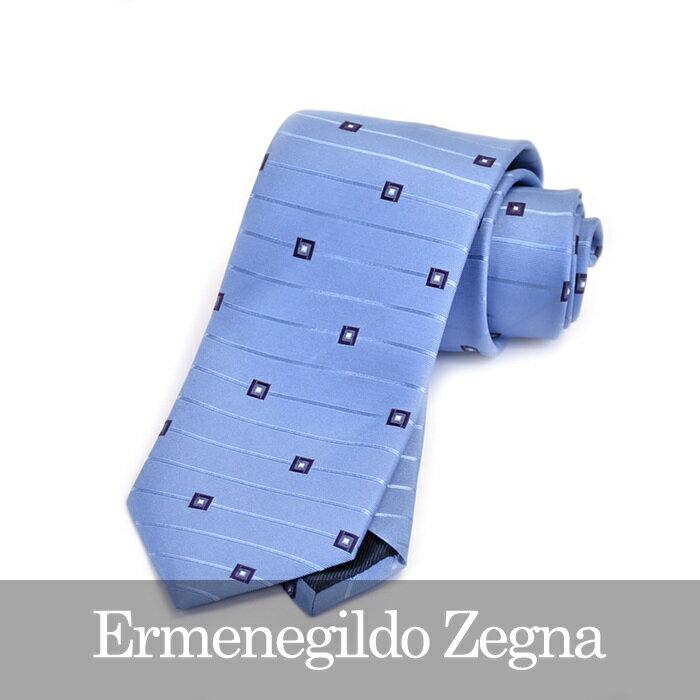 エルメネジルドゼニア ネクタイ ERMENEGILDO ZEGNA ブルー Z9D84 1L8 D【送料無料】