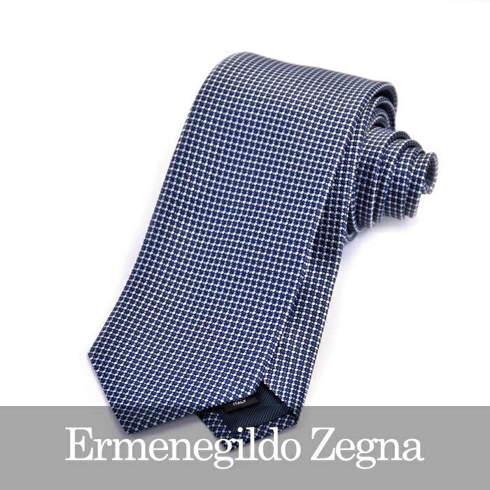 ERMENEGILDO ZEGNA エルメネジルドゼニア ネクタイ ブルー Z9D80 1L8 A 【送料無料】