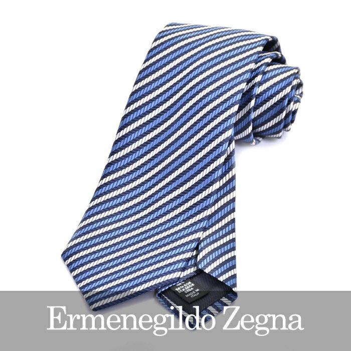 ERMENEGILDO ZEGNA エルメネジルドゼニア ネクタイ ブルー Z9D06 1L8 A 【送料無料】
