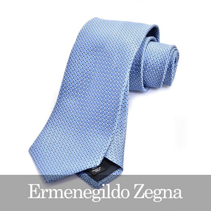 ERMENEGILDO ZEGNA エルメネジルドゼニア ネクタイ ブルー Z9D04 1L8 B 【送料無料】