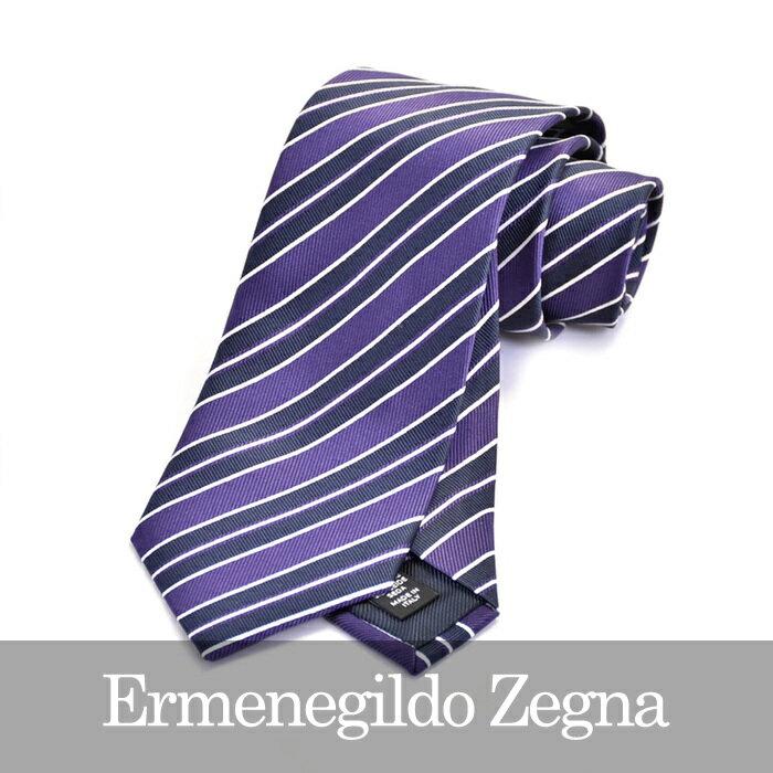 ERMENEGILDO ZEGNA エルメネジルドゼニア ネクタイ パープル Z9D07 1L8 B 【メンズ】