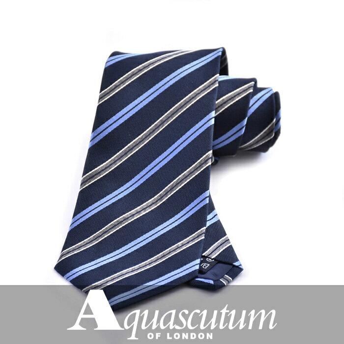 AQUASCUTUM アクアスキュータム ネクタイ ブルー AQAW222 1