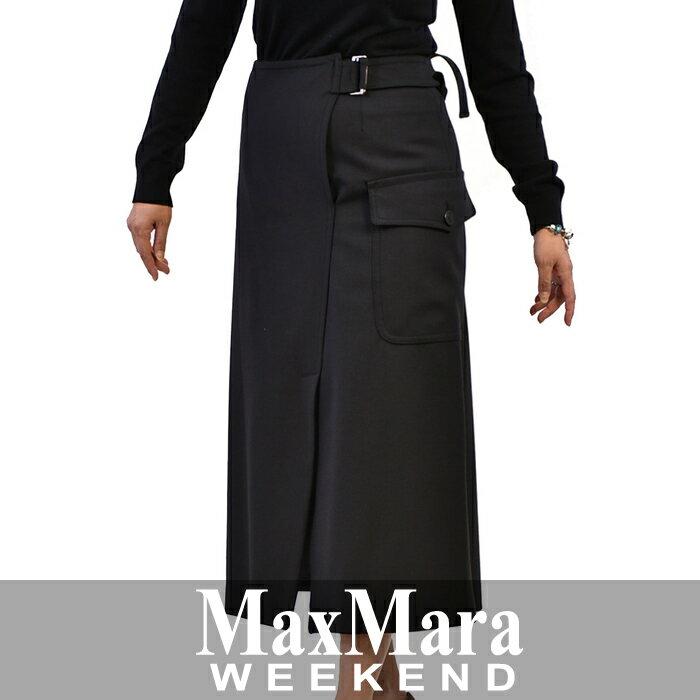 マックスマーラ ウイークエンド MAXMARA WEEKEND ラップスカート CLASSE ブラック
