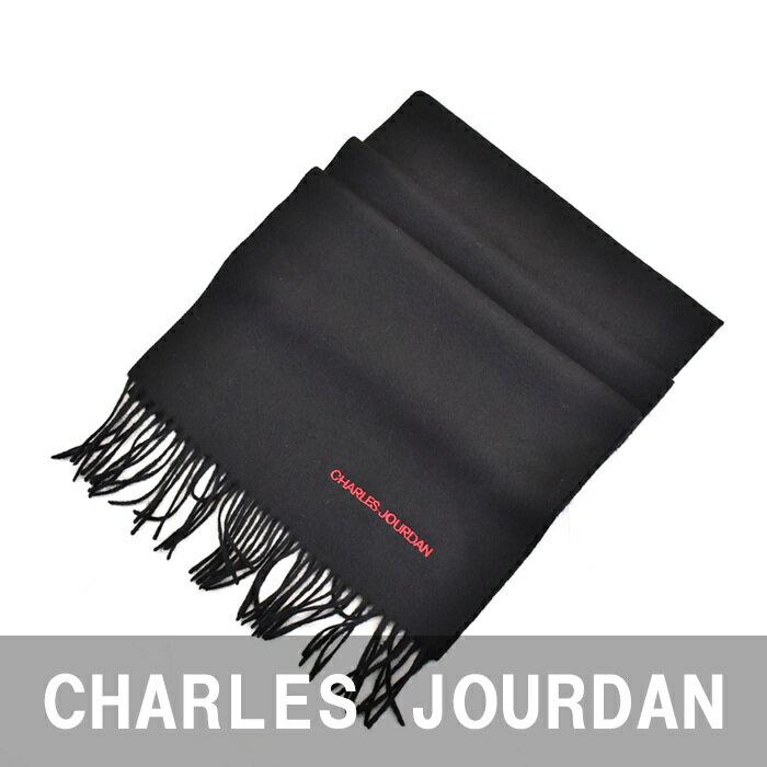 シャルル ジョルダン マフラー CHARLES JOURDAN ブラック R9778 9 ラッピング不可 同梱不可 日時指定不可