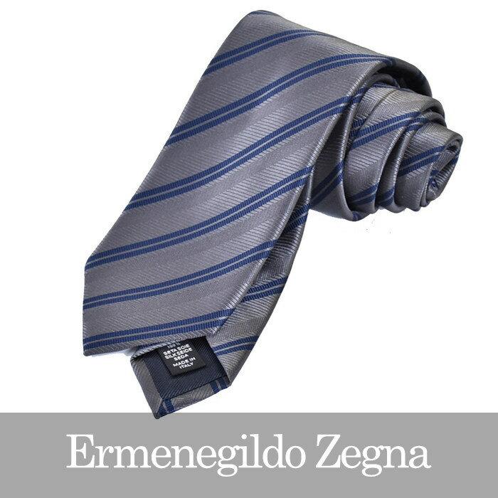 ERMENEGILDO ZEGNA エルメネジルドゼニア ネクタイ グレー Z2D09 1L8 G 【送料無料】