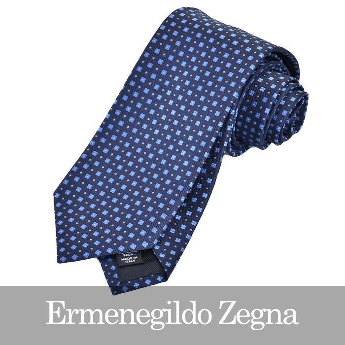 ERMENEGILDO ZEGNA エルメネジルドゼニア ネクタイ ブルー Z2D13 1L8 A 【送料無料】