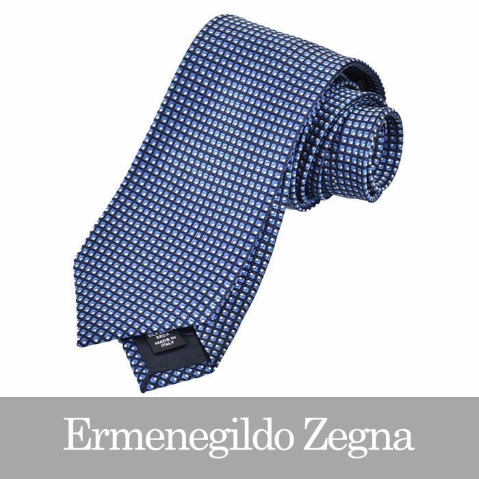 エルメネジルドゼニア ネクタイ ERMENEGILDO ZEGNA ブルー Z2D04 1L8 H 【送料無料】【メンズ】