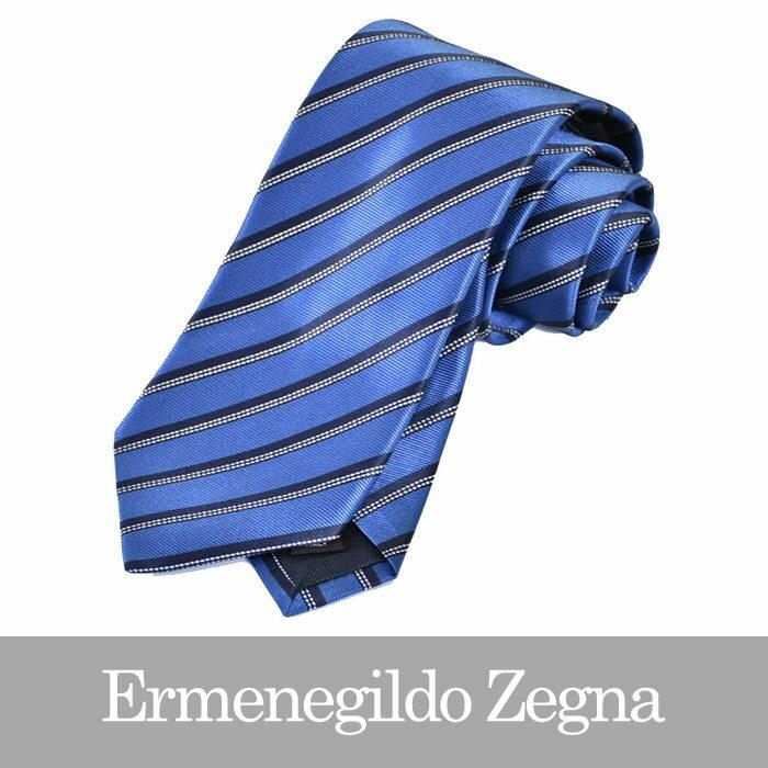 エルメネジルドゼニア ネクタイ ERMENEGILDO ZEGNA ブルー Z2D12 1L8 B 【メンズ】
