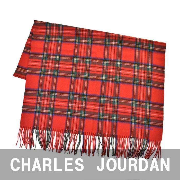 CHARLES JOURDAN シャルル ジョルダン マフラー レッド 06 43019A 2