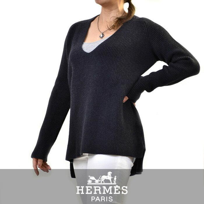 エルメス セーター HERMES ブルー 382612D 【送料無料】【ラスト1点】【レディース】