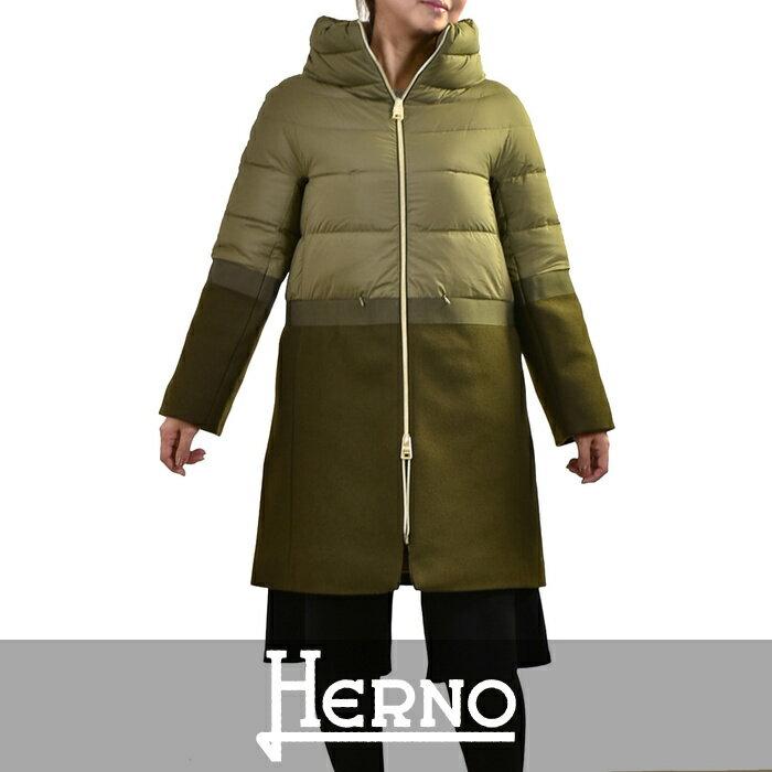 ヘルノ ダウンコート HERNO グリーン PI0680D 39601 19288 【送料無料】【SALE】【ポッキリ企画】