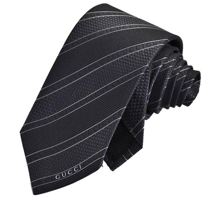 グッチ GUCCI ネクタイ ブラック系 メンズ ギフト プレゼント 仕事 フォーマル ビジネス 入学祝い 就職祝い
