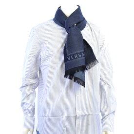 ヴェルサーチ マフラー VERSACE ブルー SC44MLB1129 1 メンズ【Final Price】 ギフト プレゼント