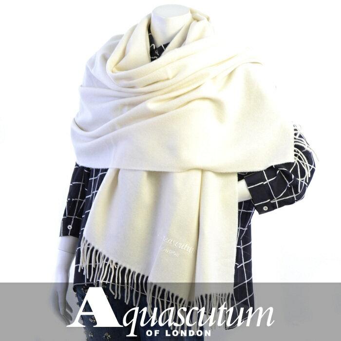 アクアスキュータム ストール AQUASCUTUM ホワイト ASTOR/2 5 Bianco 【送料無料】【レディース】