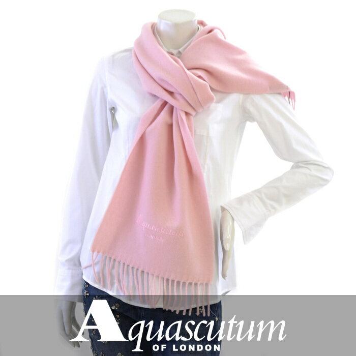 アクアスキュータム マフラー AQUASCUTUM ピンク FIRENZE 1011 Rosa 【送料無料】【ユニセックス】