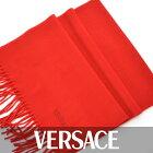 VERSACE ヴェルサーチ マフラー レッド SC9521 6 【カシミヤ100%】 【送料無料】【ユニセックス】