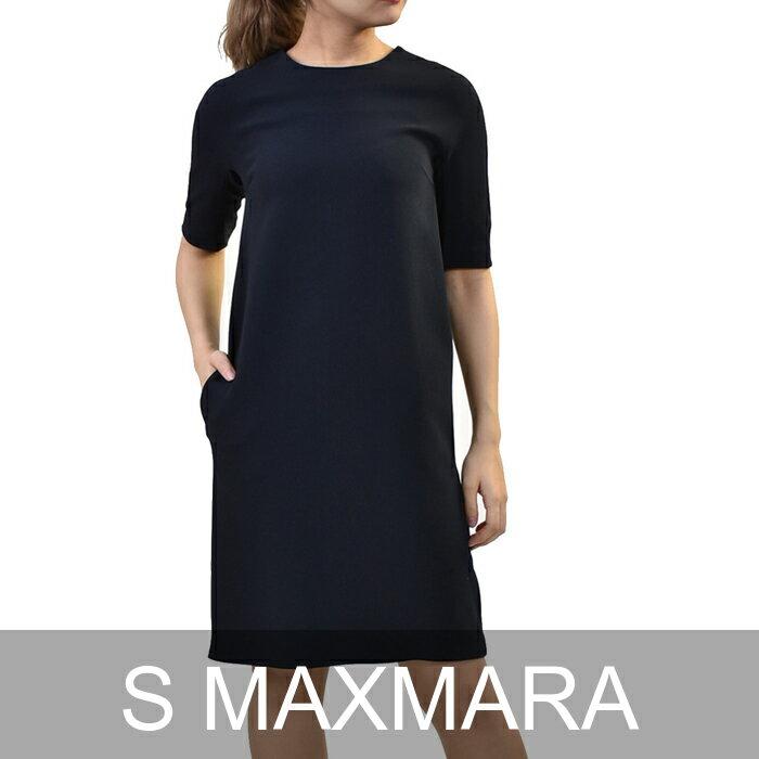 エス マックスマーラ ワンピース S MAXMARA OSTENDA 92210181 9 ネイビー 【2018春夏新作】【ラスト1点】