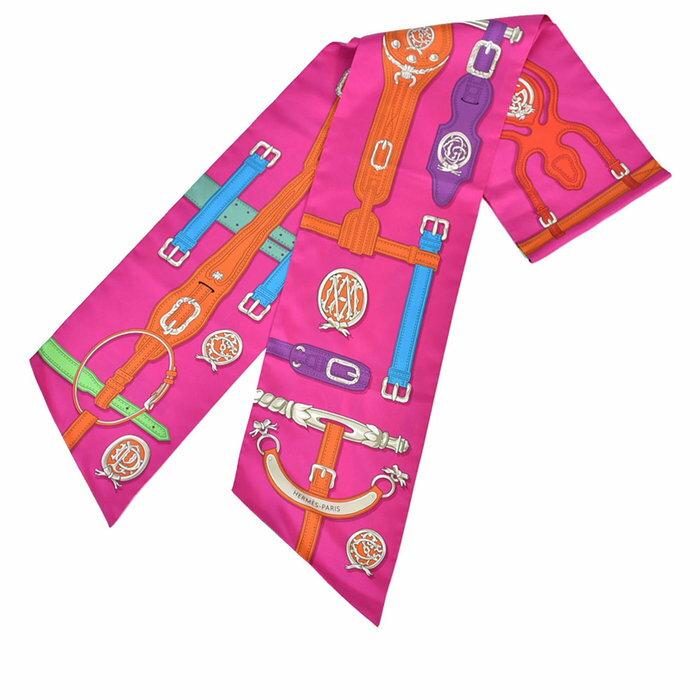 エルメス シルク ツイリー スカーフ HERMES マキシツィリー ピンク ラスト1点 母の日 プレゼント