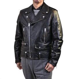 サンローラン ライダースブルゾン Saint Laurent 483225 YC1EP 1098 ブラック ギフト プレゼント
