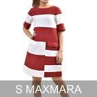 エス マックスマーラ ワンピース S MAXMARA AEDI 92212282 27 レッド/ホワイト