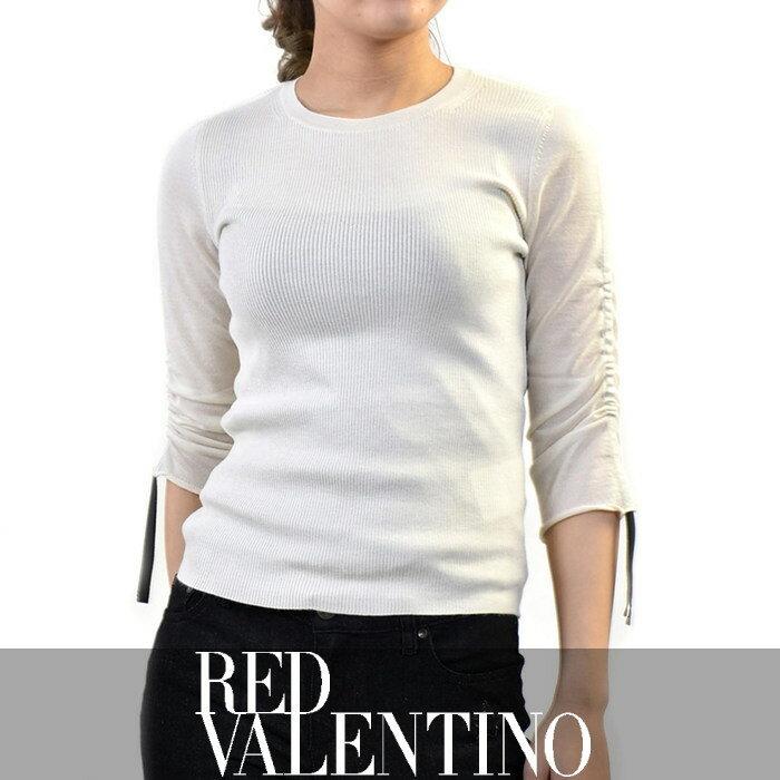 レッド ヴァレンチノ カシミヤシルクセーター RED VALENTINO NR0KC0Y41W7 オフホワイト【ポッキリ企画】【レディース】