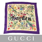 グッチ ガーデン プリント スカーフ シルク GUCCI 508070 パープル