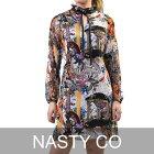 ナスティコー プリント ワンピース NASTY CO AB5924 マルチ レディース